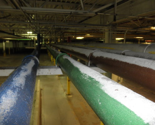 NPN Environmental Facility Decommissioning Dust on Pipes