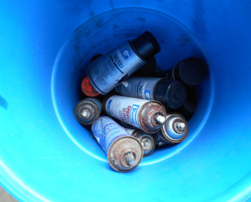 NPN Environmental Tank & Container Management Drummed paint canisters