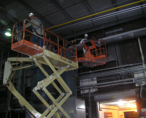 NPN Environmental Facility Decommissioning Cleaning on lift